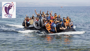 وصول 409 لاجئ الى بريطانيا مع عبارات الترحيب